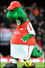 "Gunnersaurus: Arsenal's mascot is ""very popular"" with kids but would be wholly inappropriate for selection on a club crest"
