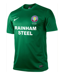 Scunthorpe's green third kit commemorates 20 years of the Irish Iron supporters' club and features their popular Unity Fist emblem